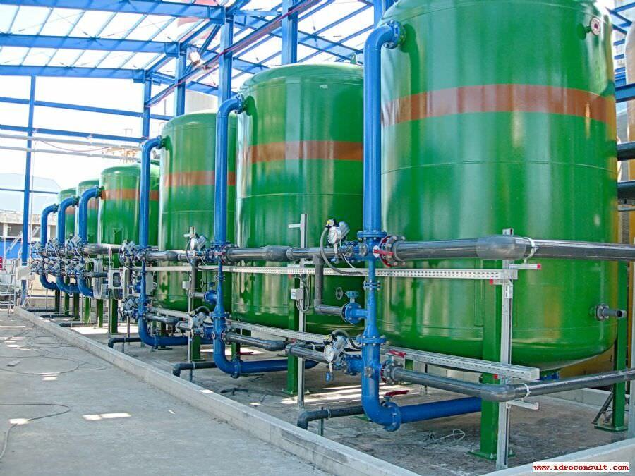 Filtrazione quarzo-carbone acqua a 120 m3/ora