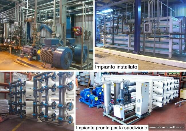 Impianti osmosi inversa industriali