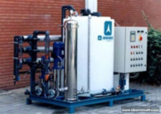 Impianto di ultrafiltrazione per oli portata 1 m³/h