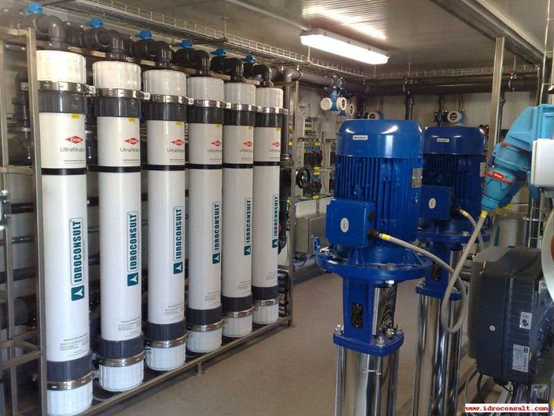 Impianto di ultrafiltrazione: Portata 16 m³/h » Impianti industriali di ultrafiltrazione in depressione