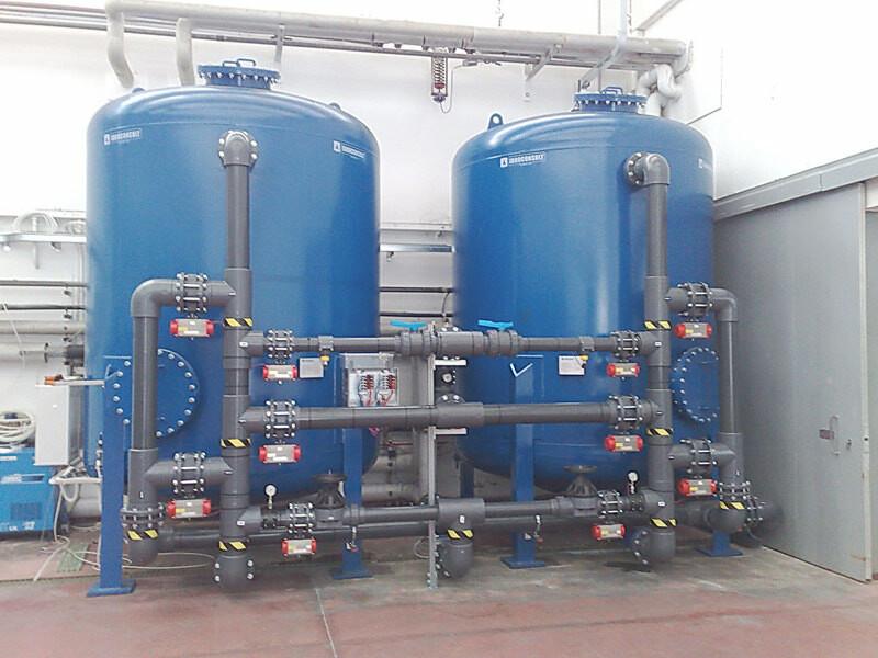 Filtrazione acqua a 100 m3/ora