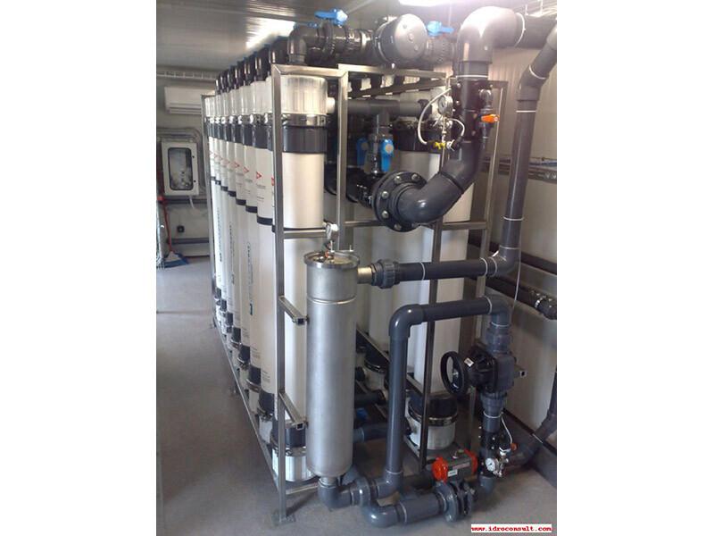 Impianto di ultrafiltrazione: Portata 24 m³/h