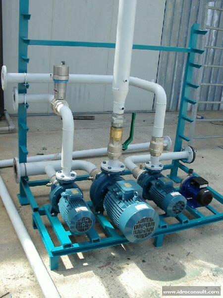 » Trattamento acque di falda contenenti ferro, manganese, ammoniaca, metano, torbidità e salinità