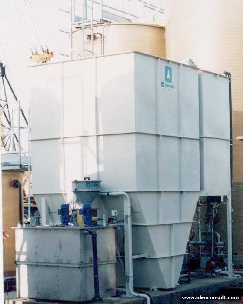 » Disinquinamento acque provenienti da impianto Wet Scrubber per lavaggio fumi di combustione