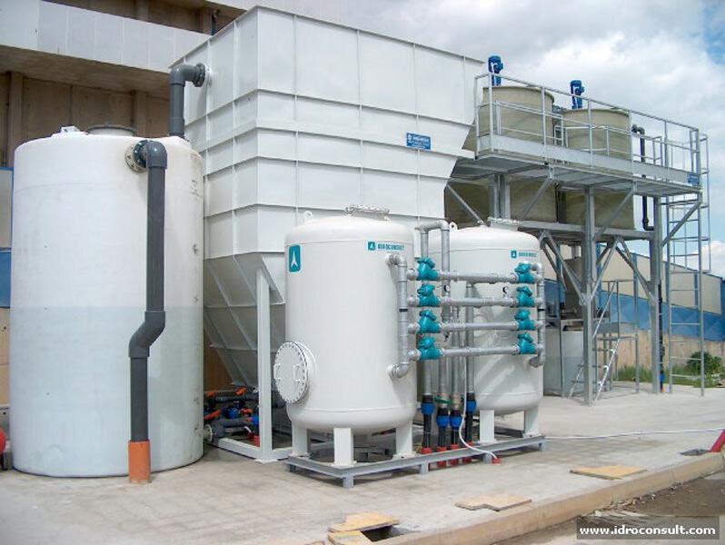 » Disinquinamento acque contenenti metalli provenienti da lavaggio fumi e raffreddamenti scorie