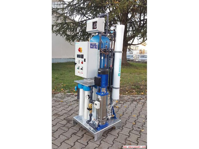 Impianto a osmosi inversa serie SK1 Portata 250 l/h » Impianti a osmosi inversa per risciacquo dopo il lavaggio