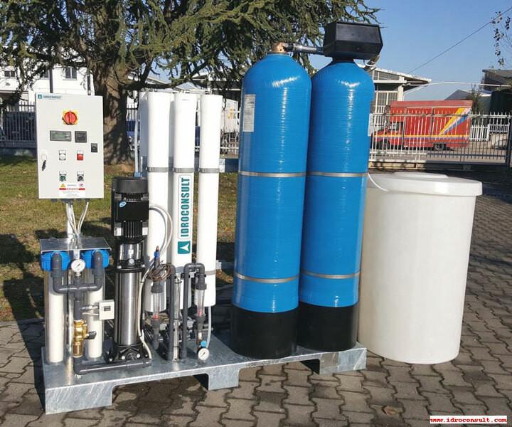 Impianto a osmosi inversa serie SK8 Portata 1100 l/h » Impianti a osmosi inversa per risciacquo dopo il lavaggio