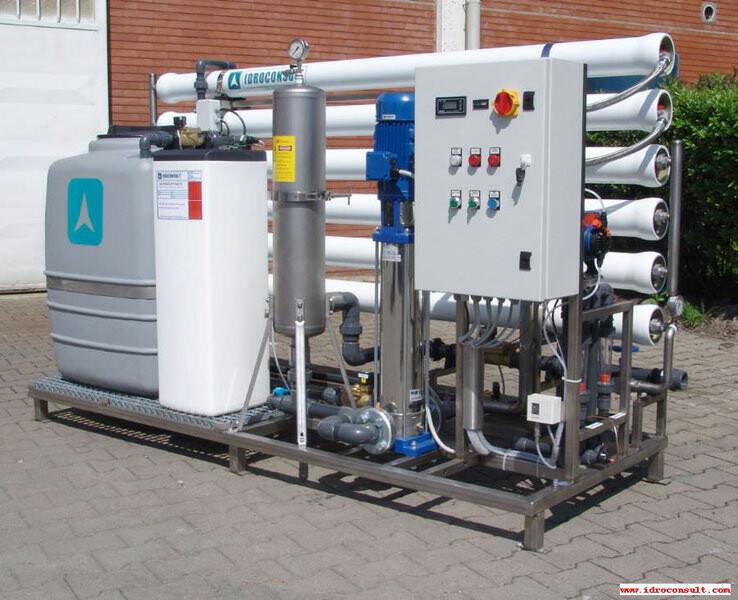 Impianto a osmosi inversa serie SM-48 Portata 2 m³/h » Impianti a osmosi inversa per risciacquo dopo il lavaggio
