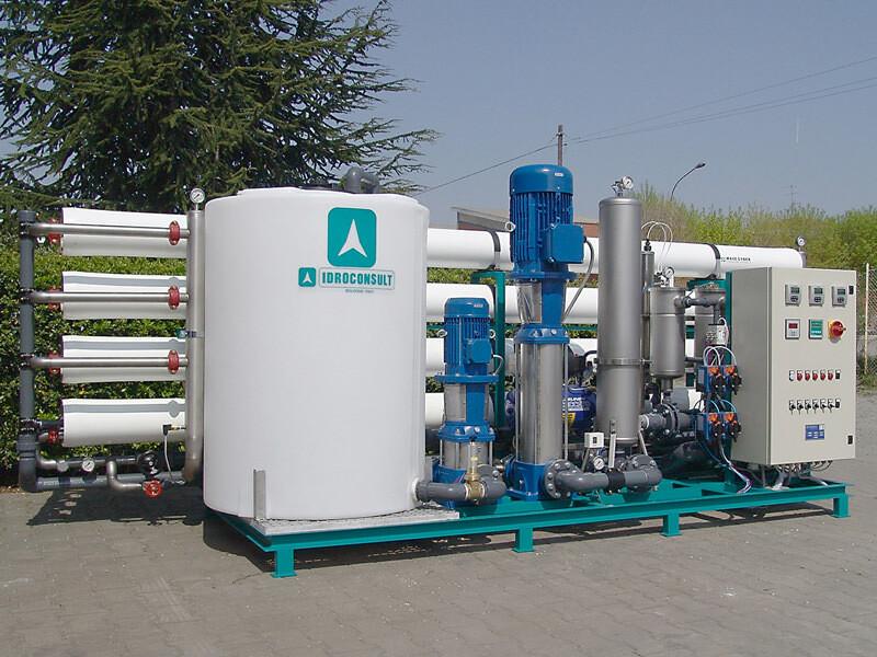 SM 408 Potabilizzatore Portata produzione: 17 m³/h