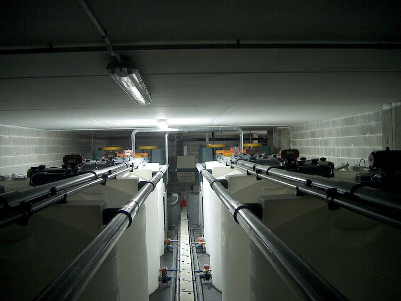Trattamento reflui radioattivi: Vista d'insieme: serbatoi di attesa