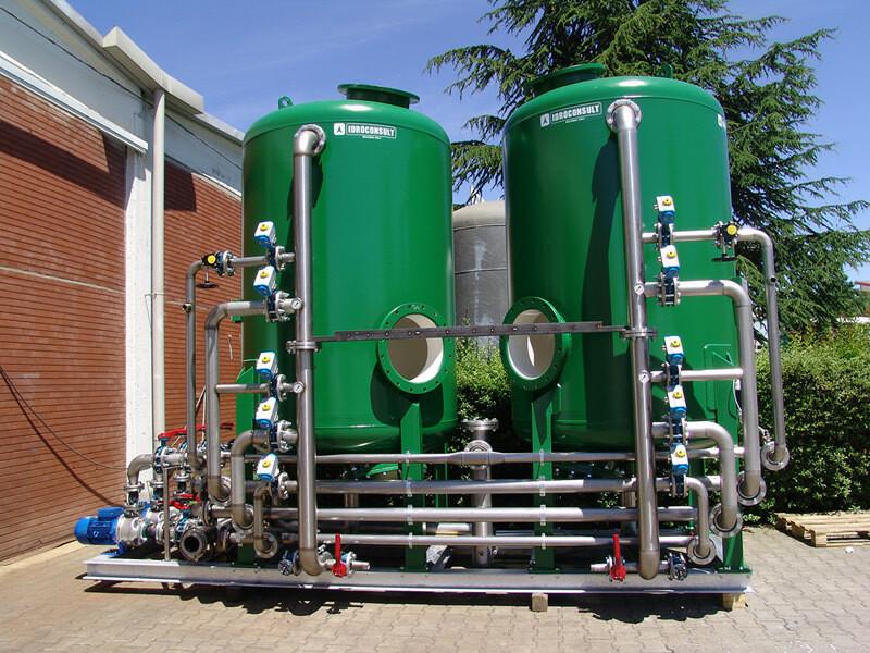 Filtri multimedia automatici: Acqua trattata 80 m³/h